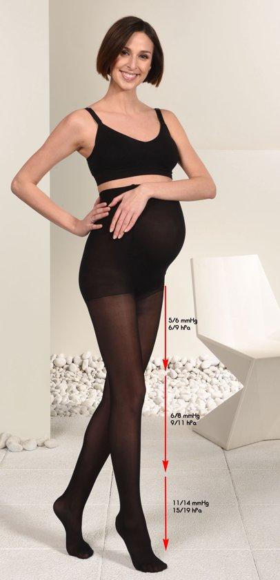 Mamsy Semi Transparante Zwangerschapspanty met lichte compressie (Zwart | L)