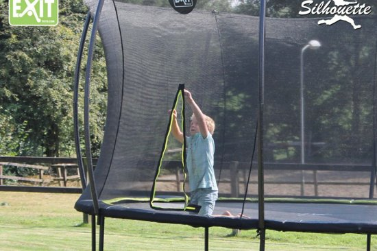 EXIT Silhouette inground trampoline ø244cm met veiligheidsnet - zwart