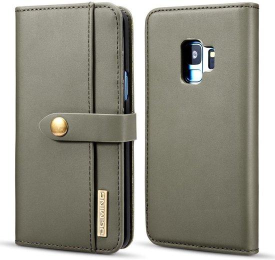 Samsung Galaxy S9 Leren 2-in-1 Bookcase en Back Cover Hoesje Groen