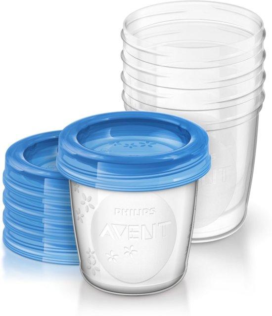 Philips Avent SCF619/05 - Bewaarbekers voor babyvoeding (180 ml) - 5 stuks