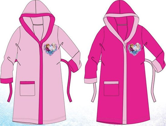 Frozen roze badjas maat 110/116 - 5/6 jaar