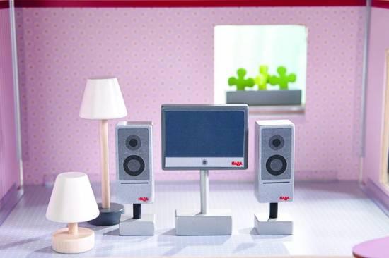 Little Friends - Accessoires Voor Poppenhuis Televisie En Lampen