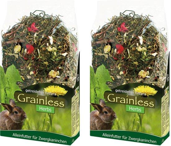 Graanvrij kruidenmix voor konijntjes voor 400 gr per 2 verpakkingen