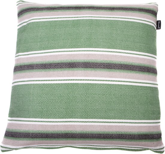 ... .com : In The Mood Nature Big Stripes - Sierkussen - Groen - 50x50 cm
