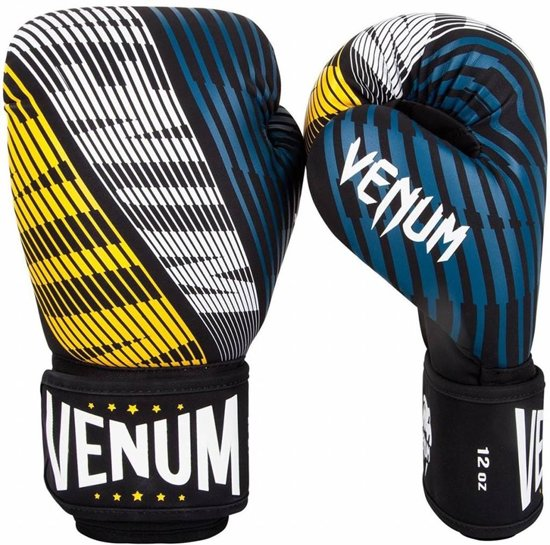 Venum Plasma Boxing Gloves - Black and Yellow-12 oz.