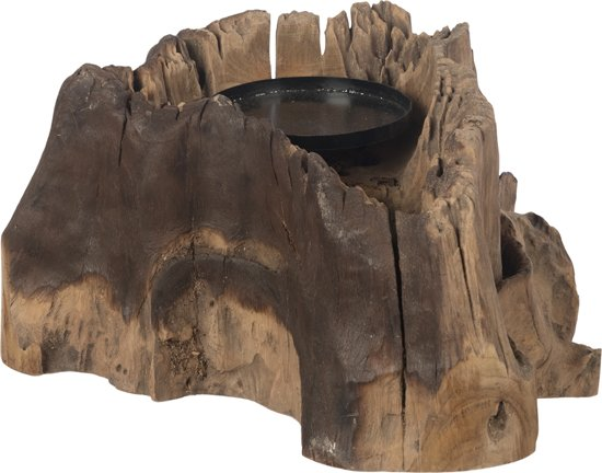 Teak houten houder