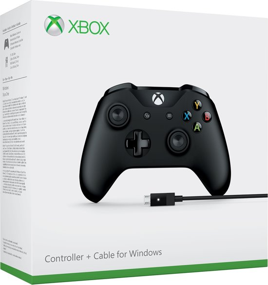 Xbox One Wired Gaming Controller - Zwart (Xbox One + PC)