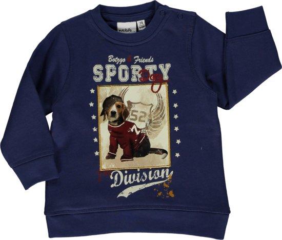Blue seven babykleding - Blauwe sweater met hond - Maat 62