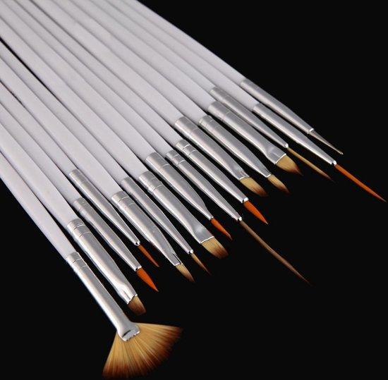 Nail art 16-delige nagel pencelen set