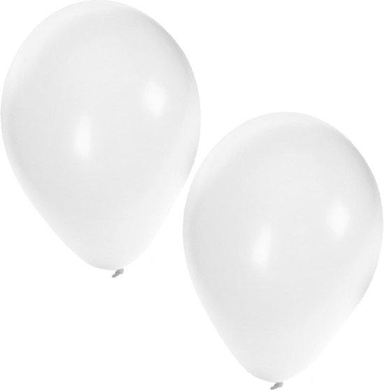 Witte ballonnen 100 stuks