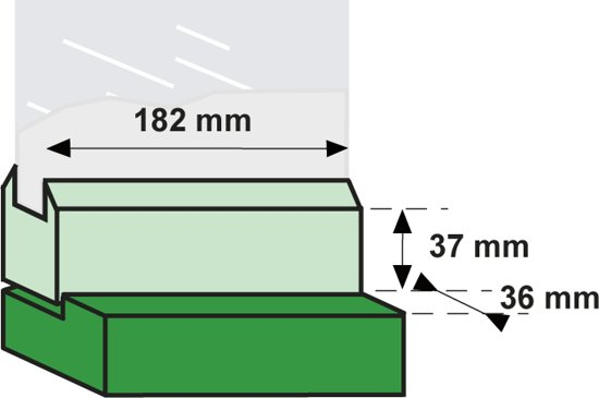 Axa Veiligheids Combi-Raamuitzetter - RVS/Zwart - SKG
