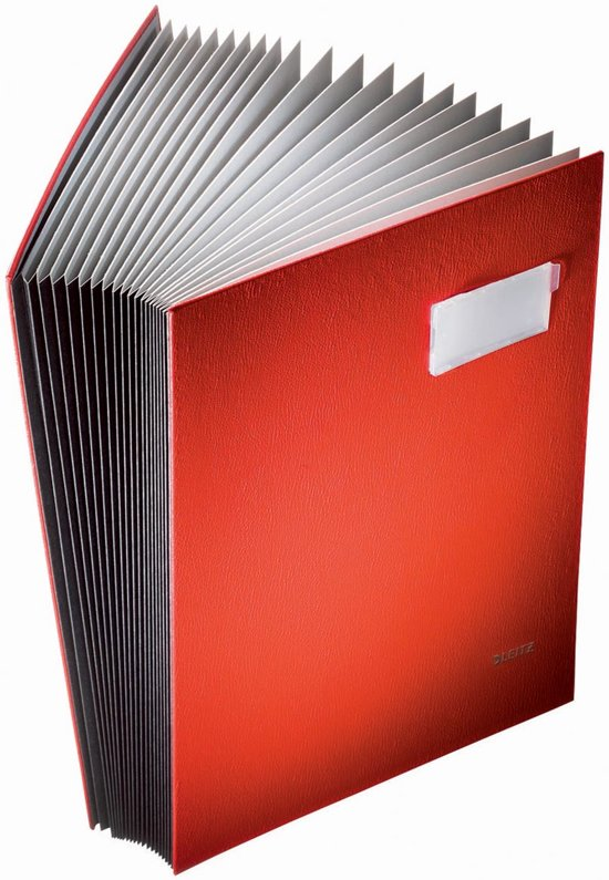 Leitz Vloeiboek Karton - 20 bladen - Rood