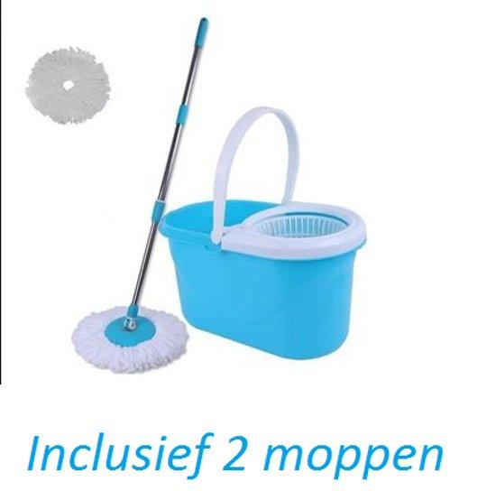 Power spin mop