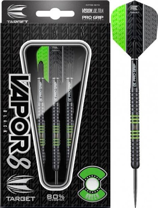Target Vapor8 80% Black Green 21 gram Steeltip Darts