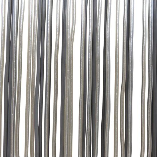 bol.com | Lesli Living Spaghetti - Vliegengordijn - 100x230 cm - Grijs