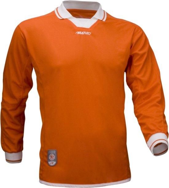 Avento Sportshirt Lange Mouw Senior Oranje/wit Maat L/xl