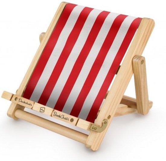 Deckchair Bookchair - Gestreept Rood