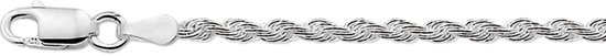 The Jewelry Collection Armband Koord 2,5 mm - Zilver