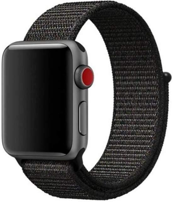 Sport loop Apple watch bandje 42mm - Zwart