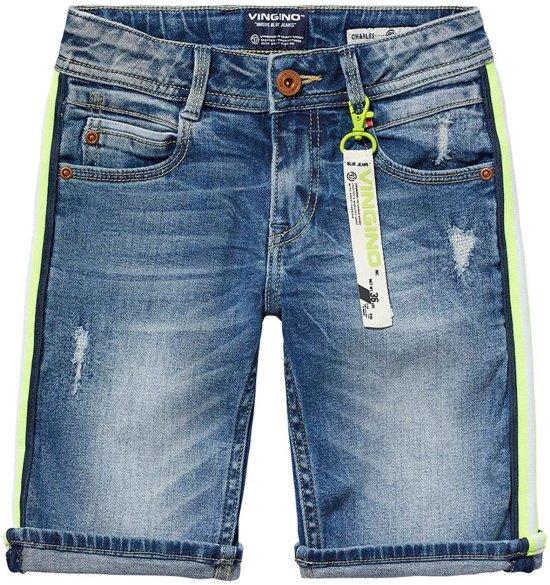 a677c485e988fa bol.com | Vingino Jongens Short - Mid Blue Wash - Maat 140