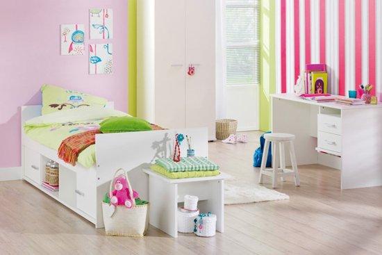 Kinderbed Met Extra Bed.Beter Bed Basic Kinderbed Jesse 90x200cm Wit