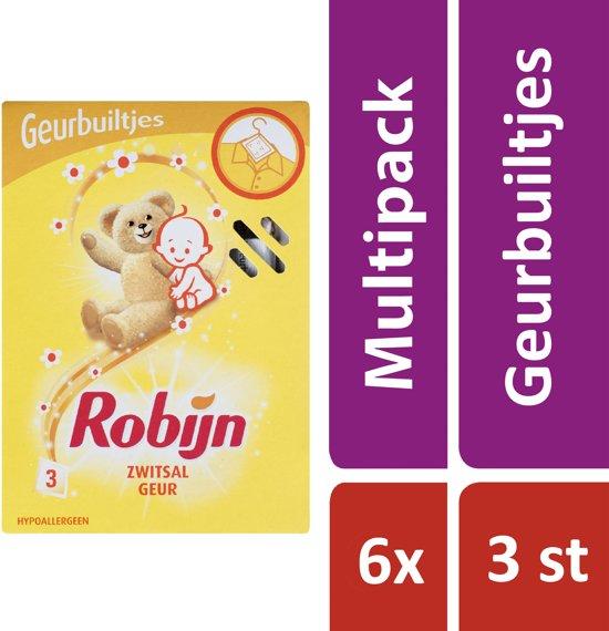 Robijn Zwitsal Geur - 6 x 3 stuks - Geurbuiltjes - Voordeelverpakking