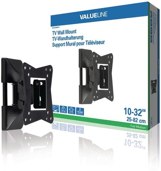 "Valueline VLM-MFM11 TV Muurbeugel Draai- en Kantelbaar 10 - 32 "" 30 kg Zwart"