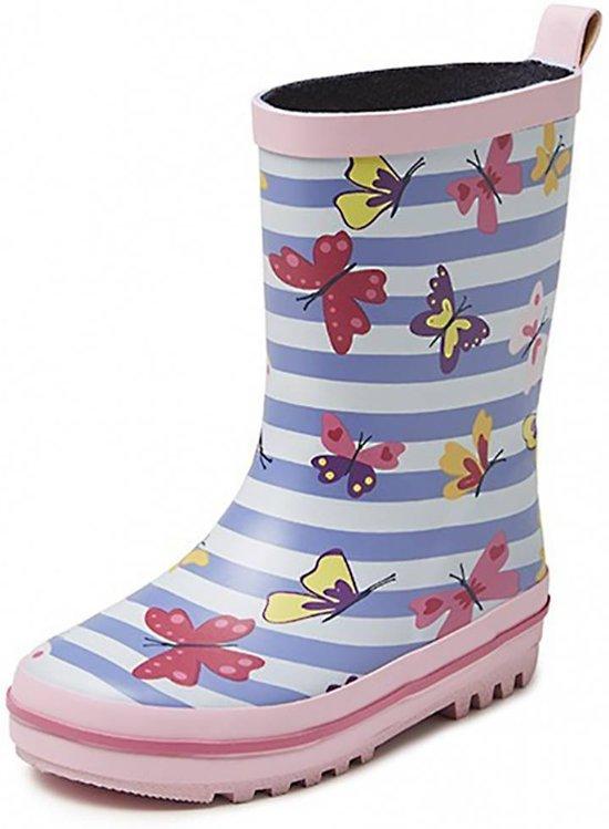 Gevavi Boots Vlinder Roze Laarzen Rubber Meisjes 30