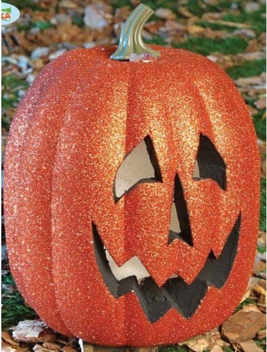 Pompoen En Halloween.Halloween Pompoen Met Licht 25 Cm