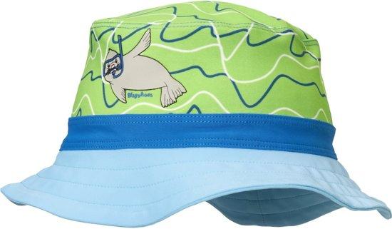 ff3495b9f9fca6 Playshoes - UV-zonnehoed voor jongens en meisjes - blauw-groen zeehond