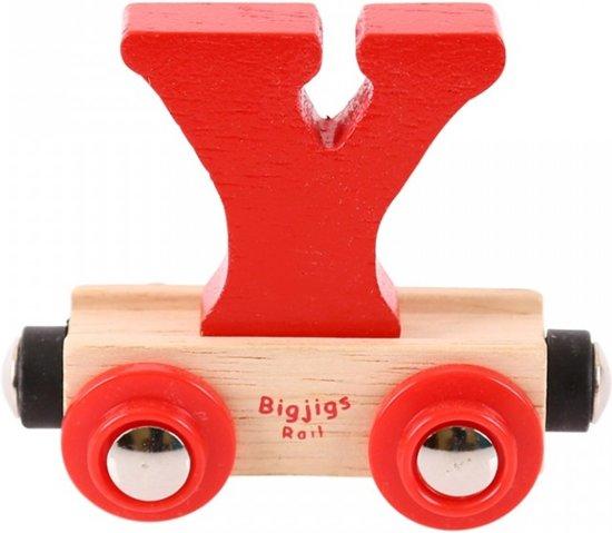 Bigjigs - Rails - Naamtrein - Letter Y - Oranje