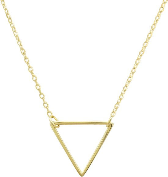 Fate Jewellery FJ414 Ketting - Hollow Triangle - Goudkleurig - 45cm + 5cm