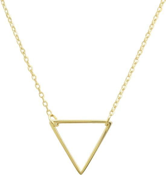 Fate Jewellery FJ414 Ketting - Hollow Triangle - Goudkleurig - 45cm + 5cm