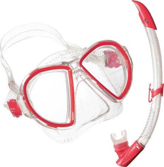 Aqua Lung Sport Duetto Midi LX + Airflex Purge Midi LX - Snorkelset - Dames - Rood