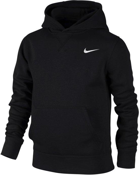 Nike YA76 Brushed Fleece Hoody Junior Sporttrui casual - Maat XS  - Unisex - zwart Maat XS - 116/128