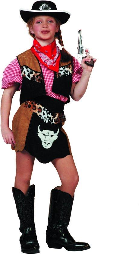 Carnavalskleding Cowboy Buffalo Western meisje Maat 116