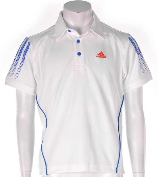 adidas Boy's Response Traditional Polo - Sportpolo - Kinderen - Maat 176 - Wit;Blauw