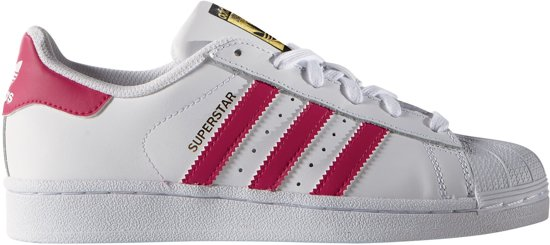99c40f59d49 adidas Superstar Foundation Sneakers - Maat 36 2/3 - Unisex - wit/roze