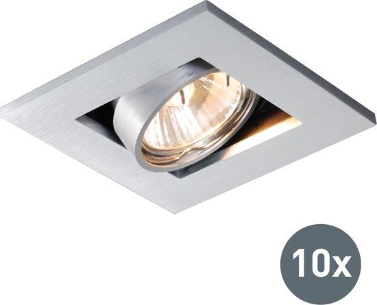 QAZQA Qure - Inbouwspot - 10 lichts - L 101 mm - Aluminium