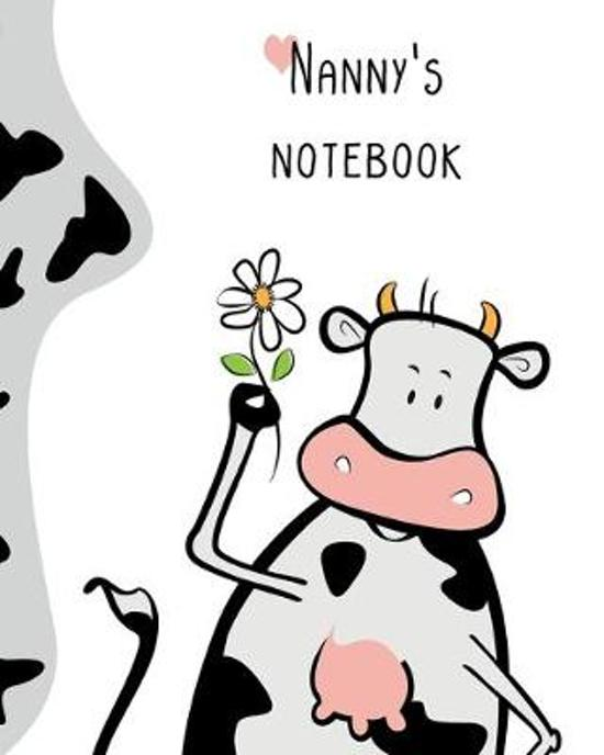 Nanny's Notebok: 100 Page Lined Notebook, Notes, Note Pad, Notebook Gift, Journal, Jotter, Notebook Gift, Personal Mothers Day, Easter,