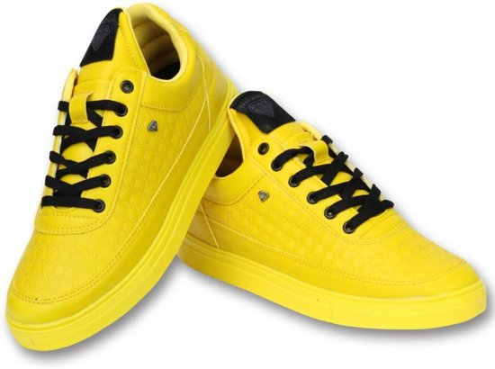 4b5d55a46ca91a Cash Money Heren Schoenen - Heren Sneaker Low Beehive - Yellow - Maten: 40