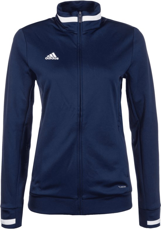 Adidas Team 19 Dames Track Jack Jassen blauw donker L
