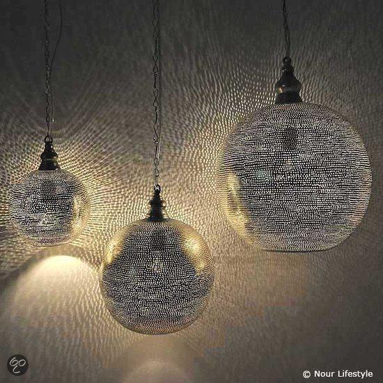 Nour Lifestyle Arabische hanglamp Arwa met gaatjes - maat S