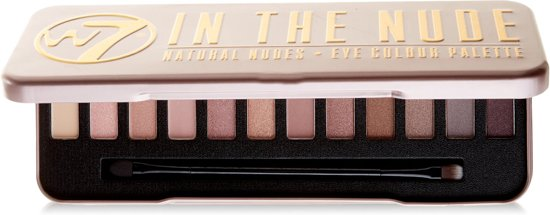 W7 Natural Nudes Oogschaduw Palette - In The Nude - Lichtroze