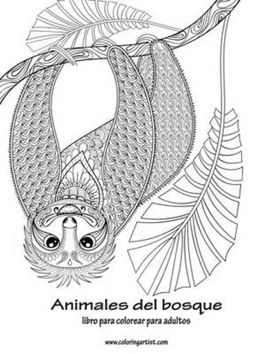 bol.com | Animales del Bosque Libro Para Colorear Para Adultos 1 ...