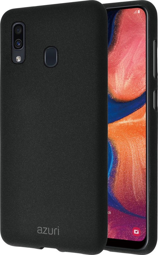 Azuri flexibel hoesje met zandtextuur - Voor Samsung Galaxy A20e - Zwart