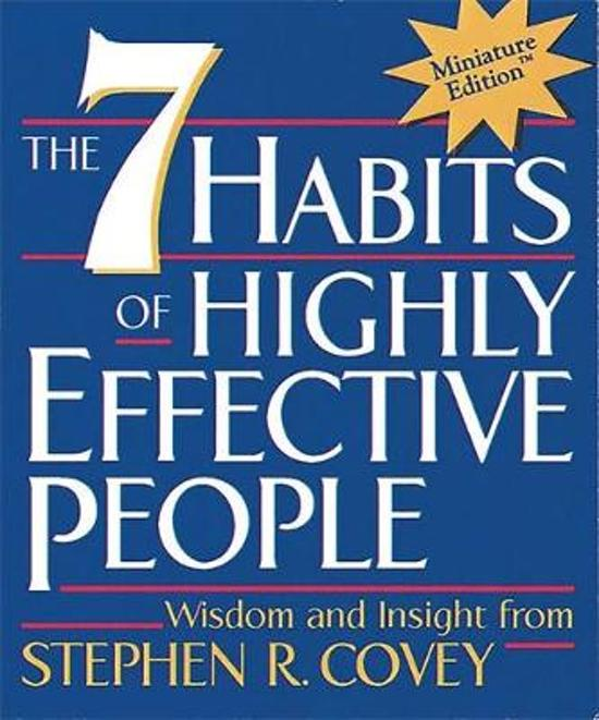Boek cover The 7 Habits of Highly Effective People van Stephen R. Covey (Hardcover)