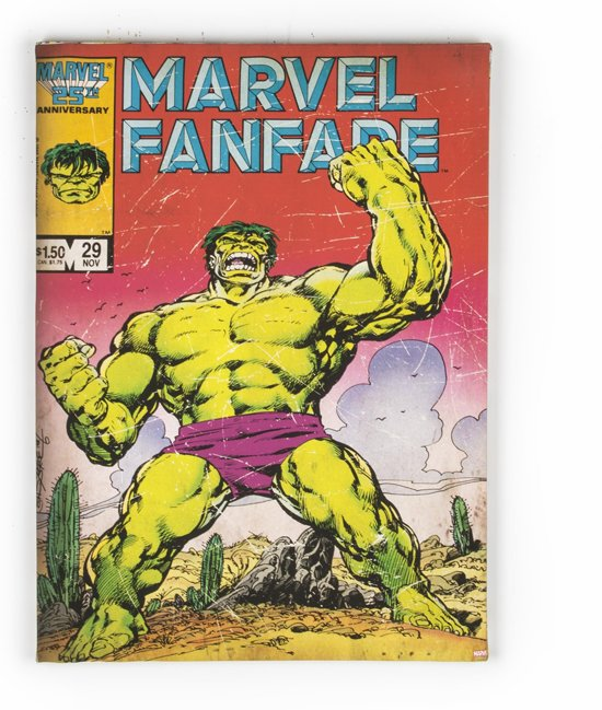 Marvel Comics - Hulk canvas - Canvas - Multi - 70x50 cm