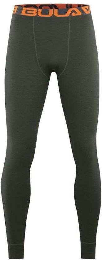 Attitude legging merino wol – olijfgroen - maat S