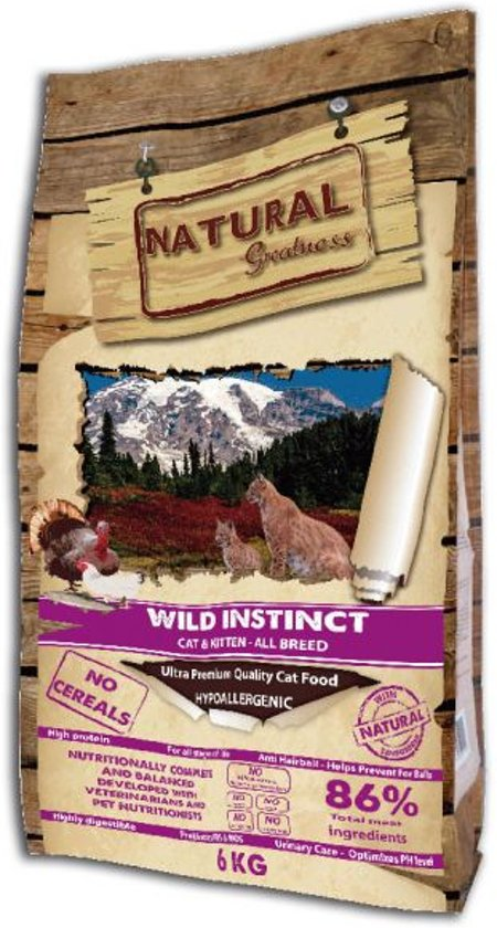 Natural greatness wild instinct kattenvoer 6 kg